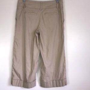 White House Black Market Pants - White House Black Market Linen Blend Capris Size 4